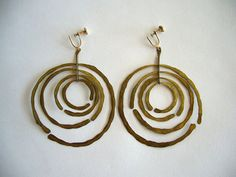 Reserved  Vintage Modernist 1950's Handmade Brass by 20thObsession