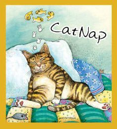 Cat Nap magnetic bookmark