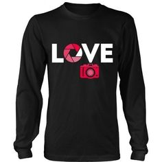 If your passion is Photography then this Love Photography is for you! Check more cool Photography related products here. If you want different color, style or have idea for design contact us support@t