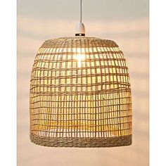 Style your space with a rustic touch using this basket-inspired pendant lampshade, handcrafted from seagrass in a natural finish. This woven design lets light disperse easily, and casts interesting shadows on the walls. Ceiling Light Shades, Lamp Shades, Ceiling Lights, Oliver Bonas, Fairy Lights, Coffee Shop, Natural, Bedroom Ideas, Bedroom Inspo