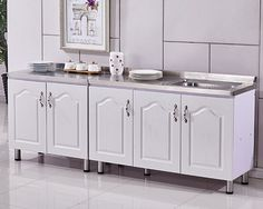 Stainless Steel Kitchen Cabinets, Double Vanity, Double Sink Vanity
