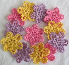Small Flower Appliques for Scrapbooks or Sewing  by IreneStitches, $6.00
