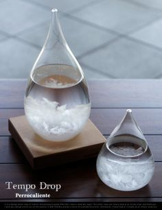 Cool tech gadgets awesome Tempo Drop Weather Forecasting Storm Glass changes from clear to cloudy to crystal flakes, predicts whether the weather will be clear, cloudy or rainy. Gadgets And Gizmos, Tech Gadgets, Wine Gadgets, Kitchen Gadgets, Cheap Gadgets, Iphone Gadgets, Office Gadgets, Awesome Gadgets, Baby Gadgets