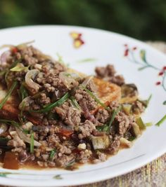 casaveneracion.com Tofu steak with stir fried ground pork