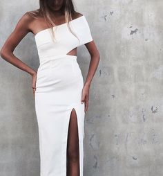 Cheap dress fans, Buy Quality dress flag directly from China dress up games lingerie Suppliers: 2017 sexy one shoulder bandage dresses bodycon white black hollow out celebrity cocktail party dresses vestidos robe de soiree Trend Fashion, Look Fashion, Fashion Clothes, Fashion 2018, Fashion Ideas, Girl Fashion, Dress Skirt, Dress Up, Prom Dress