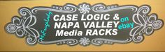A Variety of CASE LOGIC and Wood NAPA VALLEY MEDIA Storage Organizer RACKS - Cases, Towers [MsFrugaLady on ebay]    http://www.ebay.com/sch/msfrugalady/m.html?_sop=10&_sacat=0&_from=R40&_nkw=(LOGIC,VALLEY)&rt=nc