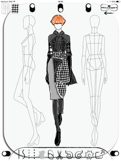 Fashion Sketch App Prêt-à-Template www.pretatemplate.com