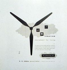 Alvin Lustig poster for Knoll