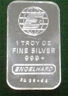 TEN 1 oz ENGELHARD .999 FINE SILVER BARS - http://mostbidded.com/ads/ten-1-oz-engelhard-999-fine-silver-bars