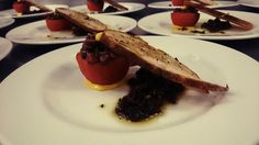 First course tonight is Manza Di Pozza, black olives, vierge #winetasting #firstcourse @AmeliasOfficial
