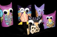 toilet paper roll owls :)