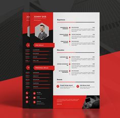 Modern Cv/Resume Templates + Cover Letter & Portfolio Page Resume Template Examples, Resume Design Template, Creative Resume Templates, Cv Template, Resume Ideas, Graphic Design Resume, Cv Design, Visual Resume, Infographic Resume