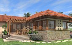 Egyszintes családi ház 178 m2 | Családiházam.hu Micro House Plans, Future House, My House, Dream Mansion, Wood Architecture, Cabin Homes, Modern Luxury, Bungalow, New Homes