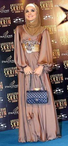 Elegant hijabi dress for parties and formal occasions