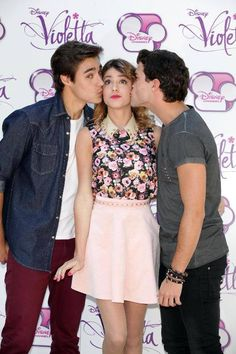 Diego Dominguez, Jorge Blanco and Tini Stoessel!!