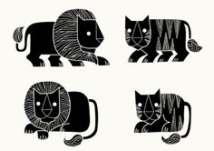 by Rilla Alexander. Love these simple, elegant, graphic animals.
