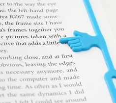 Pointing Finger Bookmark   Genius! Only 6 bucks!