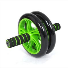 Brand New No Noise Green Abdominal double Wheel Ab Roller With Mat For waist and abdomen Exercise wheeled WYQ Ab Trainer, Exercise Wheel, Ab Roller, No Equipment Workout, Fitness Equipment, Fitness Gear, Ab Wheel, Stainless Steel Tubing, Plyometrics