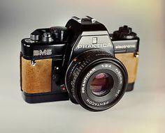 Praktica BMS / Brown Leather Skin / Vintage 35mm Film SLR / LightBurn Restored Camera / PENTACON 50mm 2.4 Lens / £39.99