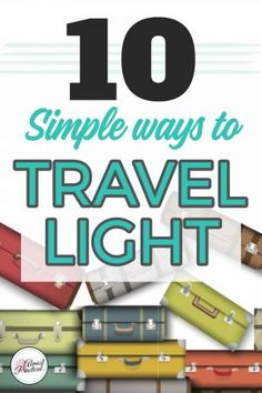 Don't lug a ton of stuff on your next vacation. Use these ten tips to travel light and only use carry-ons on your next trip. Packing Tips For Vacation, Cruise Tips, Travel Packing, Packing Cubes, Ways To Travel, Travel Tips, Travel Hacks, Travel Info, Best Travel Accessories