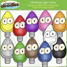 Christmas Light Colors Clip Art