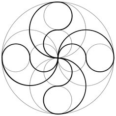 geometric back tattoo sacred geometry Geometric Drawing, Mandala Drawing, Mandala Art, Mandala Design, Geometric Shapes, Geometric Terms, Flower Mandala, Sacred Geometry Art, Fractal Geometry