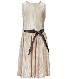 6dd571ceb612 Ava  amp  Yelly Big Girls 7-16 Foiled Plisse Trapeze Dress  Dillards Xmas