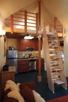 """420 sq. ft. - A loft in my home or my home if I was single. Love it :)  Don't need all my """"stuff"""" to make me happy."""