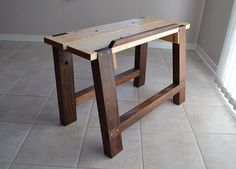 to Choose the Perfect Workbench How to Make an Adjustable Height Woodworking Bench. >>> You can find out more details at the link of the image.How to Make an Adjustable Height Woodworking Bench. >>> You can find out more details at the link of the image. Woodworking Bench Plans, Woodworking Guide, Popular Woodworking, Woodworking Projects, Portable Workbench, Diy Workbench, Tool Bench, Woodworking Inspiration, Wood Tools