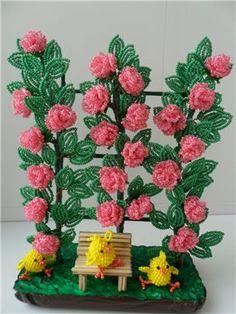 Плетистая роза. | biser.info - всё о бисере и бисерном творчестве