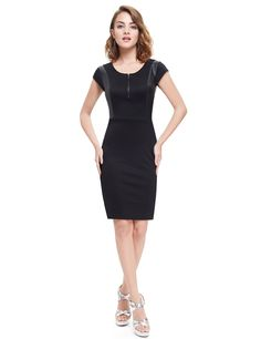 Ever Pretty 2017 Clearance Style Cocktail Dress Black Sexy Stretchy Women Dresses A-line Cocktail Dresses Stylish Dresses, Sexy Dresses, Dresses For Sale, Short Sleeve Dresses, Dresses For Work, Prom Dresses, Summer Dresses, Dresses 2016, Elegant Cocktail Dress