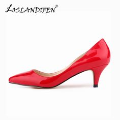 3f3654c565 Find More Women's Pumps Information about Classic Sexy Pointed Low Med  Kitten Heels Women Pumps Shoes