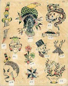 Traditional Tattoo Flash Art, Traditional Flash, Old School Tattoo Designs, Tattoo Designs Men, Antique Tattoo, Tattoo Museum, Vintage Tattoo Design, Charm Tattoo, Vintage Flash