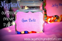 A really cool girl's movie night party