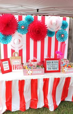 carnival booth for birthday