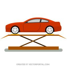 Car repair shop vector image