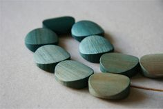 HandDyed Ombre Soft Jade to Deep Teal Turquoise Round by lesalikes, $42.00