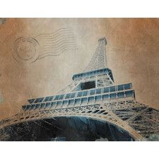 Around the World Eiffel Tower Photographic Print on Wrapped Canvas