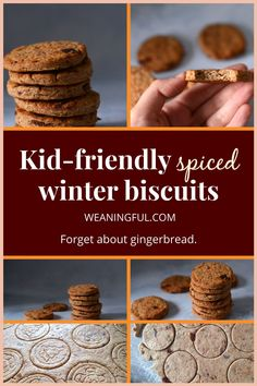 Winter cookies are a great baking project to make with the kids and these biscuits made with dates, peanut butter and orange juice are a great choice and gingerbread alternative. Enjoy Christmas and happy cooking! Baby Meals, Kid Meals, Meals For One, Healthy Baby Food, Healthy Meals For Kids, Healthy Recipes, Easy Recipes, Baby First Foods, Baby Finger Foods