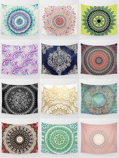 Society6 Mandala Tapestries - Society6 is home to hundreds of thousands of artists from around the globe, uploading and selling their original works as 30+ premium consumer goods from Art Prints to Throw Blankets. They create, we produce and fulfill, and every purchase pays an artist.