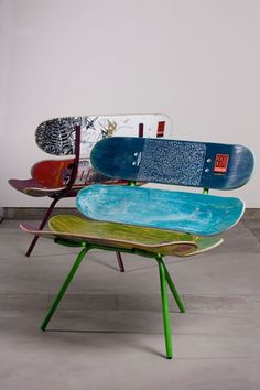 Cool diy hipster skateboard chair recycle diy ideas pinterest skateboard and hipsters - Cheap hipster furniture ...