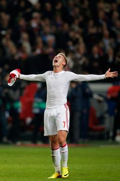 Viktor Fischer of Ajax celebrates victory after the UEFA Champions League Group H match between Ajax Amsterdam and FC Barcelona at Amsterdam Arena on November 26, 2013 in Amsterdam, Netherlands.
