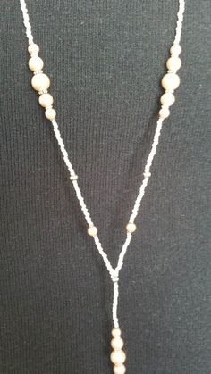 Antique Pink and Silver Beaded Lanyard by liverbitz on Etsy, $15.00