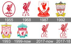 """A Liverpool crest of some kind was first mentioned by a sports commentator in the fall of 1892 when the team played its first season. According to the report, the flag featured """"the letters L. surmounted with the liver bird. Retro Football, World Football, Football Fans, Liverpool Logo, Liverpool Soccer, Soccer Logo, Soccer Teams, Alien Concept Art, One Logo"""