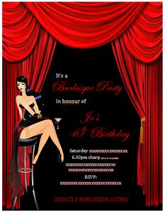 """Photo 1 of 25: Burlesque / Birthday """"Burlesque 40th Birthday Party""""   Catch My Party"""