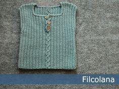 Sigge vest med lille snoning - gratis PDF opskrift  Design: Sanne Bjerregaard www.filcolana.dk Filcolana En skøn vest...
