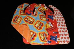 Going Places Set of 3 baby bibs by kustomkate on Etsy, $12.00