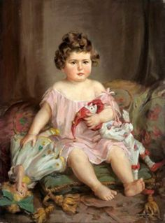 Infant With Doll And Pagliaccio