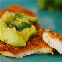 Crispy Chipotle Lime Tilapia with Cool Avocado Sauce Allrecipes.com #MyPlate