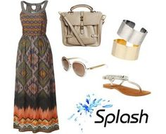 Save, Splash and Splurge on a maxi dress outfit!